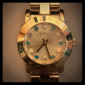 MARC by Marc Jacobs gold watch with crystals